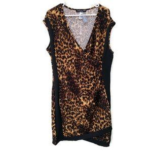 NWT Absolute Angel NY Women Dress 3X Leopard Print